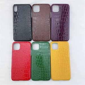 Glossy crocodile pattern Case For iphone XR XS phone 11 Pro Max 6s 7 8 plus Cell Phone Cases Mobile Phone Cover 5 Colors