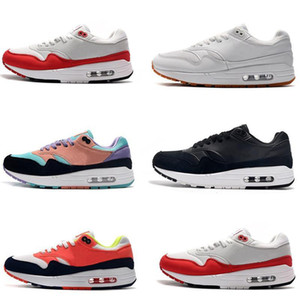 Cheap Og Am 1 Am 87 Kids Youth Women Mens Running Shoes White Sports Red Out Door Walking Trainers