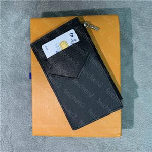 Cartão de crédito bolsa de moedas moeda titular zippy bolsa clássico Homens Mulheres unisex bolso Moda Mini pequeno Carteira Handy Magro Banco Com Box