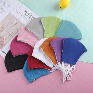 Summer Ice Towel Designer Face Mask Adult Kids Mesh Breathable Masks Solid Washable Cycling Mouth-muffle Half Face Cover DHL D72109