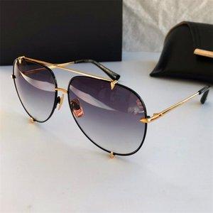 Lentes de sol de las mujeres de gran tamaño del aviador retro sombras de los hombres de lujo de los vidrios de Sun a estrenar de lujo mujer de las gafas marcos 23007