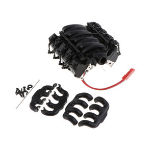 1 10 Scale V8 Engine Radiator with Cooling Fan for SCX10 Rock Crawler