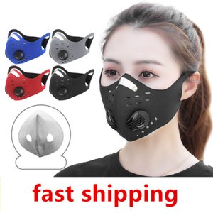 Cycling Protective Face Masks With Activated Carbon PM2.5 Anti-Pollution Dust Sport Running Training Road Bike Reusable Masks