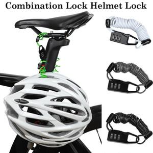Scooter Motosiklet Bisiklet Taşınabilir Bisiklet Cable için Taşınabilir Bisiklet Kilidi Hırsızlık Kask Kilidi 4 Haneli Şifre Bisiklet