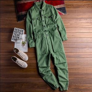 Moda Erkek Jean Önlüğü tulumları Hip Hop Tulumlar ile Çoklu İş Kıyafetleri Tulumlar Suspender Pantolon Pockets
