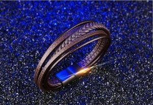 F109 valentines's day gifts Brand new genuine leather men's bracelets bangle bangles boyfriend's gift fashion accessories cowskin