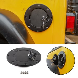 Areyourshop Car Fuel Gas Tank Cap Cover w  Secure Lock&Key Design Fit For 1997-2006 Wrangler TJ Car Auto Accessories Parts