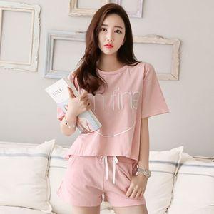 Women Pajamas Set Summer Cute Strawberry Short Sleepwear Girls Comfortable Home Clothes
