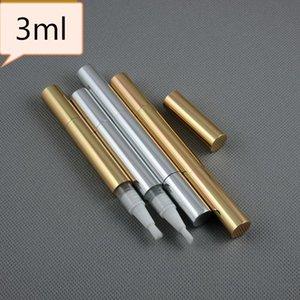100pcs / lote 3 ml vazio garrafa unha polonês Lustro tubo giratório tubo caneta engarrafamento independente de fundação Torça Pen com escova SN1546