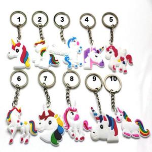 Keychain hot sale Unicorn Keyring Cellphone Charms Handbag Pendant Kids Gift Toys Phone Decoration Accessory Horse Key Ring wholesale