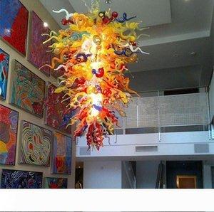 Moderne Grand éclairage Lustre en cristal pour haut espaces plafond manger Art en verre soufflé à la main lampes suspendues Chambre