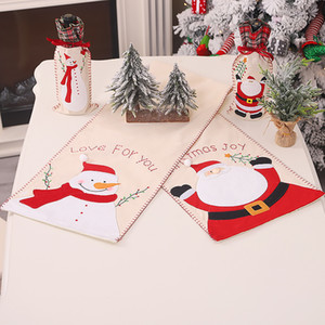 Cartoon Christmas Home Table Runner Creative Festive Party Table Cloth for Hotel Indoor Table Christmas Supplies