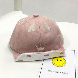 Spring Summer Baby Hat Cute Heart Crown Baby Boys Girls Hats Infant Toddler Sun Visors Caps Kids Snapback Baseball Cap B2ey#