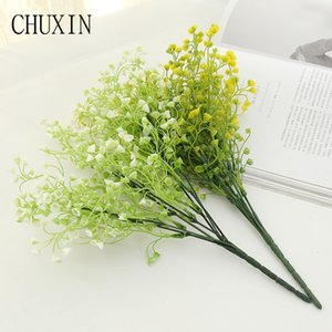DIY Artificial small bowl flower water grass Gypsophila fake plastic plants flower for wedding family party decor Potted plants