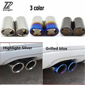 ZD 2PCS For XC60 S60 XC90 V40 V60 2011 2012 2013 2014 Stainless Steel Car Exhaust Tip Muffler Pipe Cover Accessories bwLm#