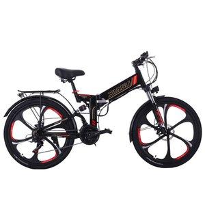 6 radios de rueda Magnestium 48V 350W E Motor Bike 10AH batería de litio de montaña eléctrica con doble freno de disco
