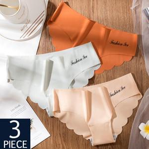QIWN 3Pcs / lot Sexy Frauen-nahtlose Schlüpfer-Sets Unterwäsche-Dame-Wäsche weicher Sport-Briefs Set Niedrige Taille Weiblich Intimates Tangas