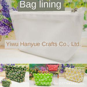 diy handmade liner diagonal lining Messenger shoulder inner bag small Diy beads beaded beaded melon seeds pearl bag