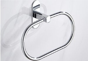 2020 hot sale Non-punch bathroom Stainless steel towel ring bath toilet circular towel rack Towel Rings