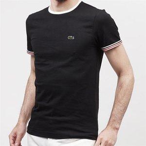 stussy magliette Testa di tigre uomo manica corta Tee Shirt Tiger testa Parigi Stampato casual uomo in cotone T-shirt bianco nero grigio Lacoste