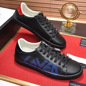 Men &#039 ;S Ace Sneaker With Loved Print Mens Shoes Fashion Classic Leather Vintage Luxury Shoes Lace -Up Low Top Casual Men Shoes Fast Del