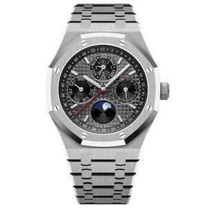 montre de luxe erkek otomatik Mechanica hareketi gümüş izle 42mm tam paslanmaz çelik safir süper parlak 5ATM su geçirmez saatı