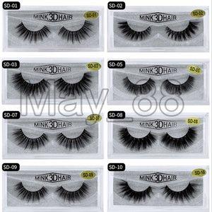 20 style 3d Mink eyelash Fake Eyelash Soft Natural Thick 3d mink HAIR false eyelash natural Extension fake Eyelashes DHL free shipping