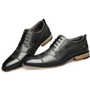 Neue Männer Kleid Schuhe echtes Leder-Mann-Geschäft Schuhe große Größen-Männer Brautschuhe beiläufige Lace-up handgemachte 013