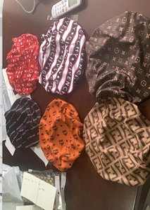 Designer Sleep Bonnet Cap Durag Muslim 80 Styles Women Stretch Sleep Turban Hat Silky Bonnet Chemo Beanies Caps Cancer Headwear Head Wrap
