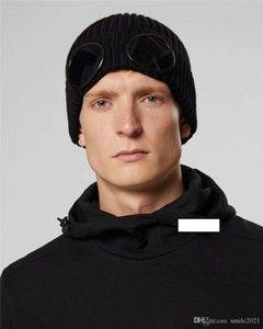두개골 모자 야외 모자 여성 니트 남여 가을 겨울 CP C.P 회사 두 잔 고글 비니 남자 Gorros 보닛을 비니