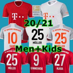Bayern de Munique 20 21 SANE camisa de futebol camisa de futebol LEWANDOWSKI COUTINHO HERNANDEZ NIANZOU MULLER Men + Crianças definir 120 MUNCHEN 2020 2021