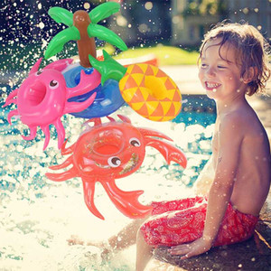 1Pc Inflatable Cup Holder Swimming Pool Balloon Toy Kids Favors Flamingo Donut Pool Float Bath bathroom Bar Coasters