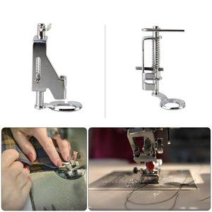 Pies portátil movimiento libre de metal acolchar prensatelas pie para la máquina de coser nacional punta abierta herramienta prensatelas de bordado metal