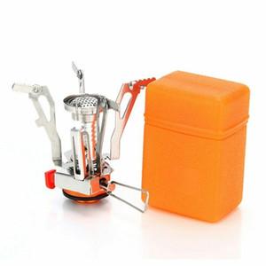 Outdoor Portable che piega il mini stufa a gas da campeggio Viaggi Attrezzature facendo un'escursione il picnic Fornello 3000W Lgniter Ultralight campeggio Becco a gas strumento EDC