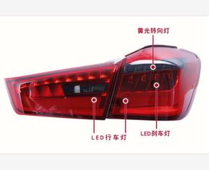 Автомобиль Styling для Mitsubishi ASX Taillights 2011 - 2018 для ASX RVR LED Tail Lamp Fog Light DRL + Brake + парк + сигнальные огни не привели