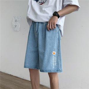 uOZik online celebrità alla moda dei pantaloni jeans sciolto tendenza dritto tutto-fiammifero ins delle donne degli uomini super popolare e pantaloncini di jeans e jeans studente