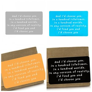 Engraved Letter Wallet Inserts Card Wallet Clip Business Cards Anniversary And Wedding Gifts I Would Choose You Special Products 2 88dbH1