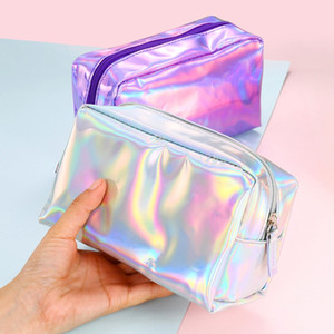 Bolsa de lavado láser bolsas de almacenamiento maquillaje impermeable impermeable transparente cosmético láser viajes mujeres bolsa de moda bolsa organizador bolso bolso bc bc bh16 gsll