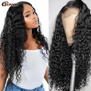 Parrucca dei capelli umani 360 parrucca frontale del merletto Wave Wave Remy Lace front Parrucche per capelli umani per le donne nere Ponytail 13x4 13x6 parrucca di pizzo