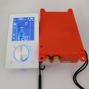 Termostato intelligente Doccia valvola Sistema Display LCD doccia pannello touch screen da bagno rubinetto del miscelatore incasso a parete 2/3 Funzioni
