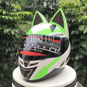 cat -ear casco è il casco quattro stagioni nave veloce motocross piena moto faccia dot cascos para moto XYTS #