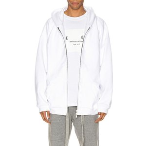 19FW FG sexto DIARIO COMPLETA Cardigan con capucha de la camiseta de la calle principal de la chaqueta con capucha Hombres Mujeres sólida simple sudaderas con capucha de gran tamaño Outwear HFYMJK318