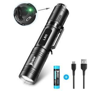 Wuben LED L50 lanterna 1200 lumens super brilhante lanterna 18650 lanterna IPX8 impermeável, usado para camping, caminhadas