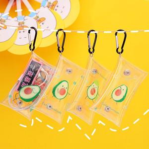 L0040 Cartoon creative transparent earphone wallet wallet purse waterproof personalized key bag mini coin headset storage coin purse