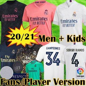 20 21 صفحة اعب ريال مدريد لكرة القدم بالقميص 4TH أخطار VALVERDE camiseta 2019 2020 2021 VINICIUS أسنسيو المعدات قميص كرة القدم للأطفال