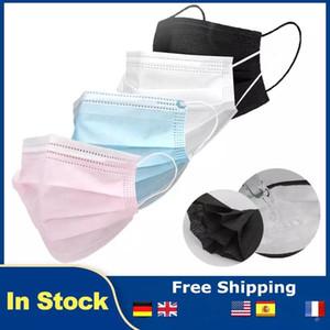 Rosa, Schwarz, Blau Einweg-Gesichtsmaske 3 Ebenen Earloop Anti-Staub-Gesichtsmasken Mundmasken KID Maske freies Verschiffen