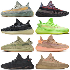adidas 350 v2 2020 Atacado enxofre Kanye West Abez Mens Womens Running Shoes Eliada argila Gid Brilho Yecheil Asriel Preto High Fashion mens Trainers Tamanho 13