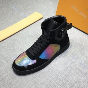 xshfbcl Damier Graphite Designer Mens Sneakers Males High-Top Casual Shoes Newest Style Athletic Trendy Shoes Black Leather party shoes