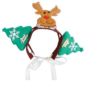 Pet Hunde Accessoires Weihnachten Elk Schneemann-Kopf-Band-Dekorationen Hund Crown Hat Stirnband Weihnachten Haustier-Haar-Zusätze DH0230