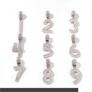 Hip Hop pain Collier diamant bijoux nom personnalisé GLACÉ Chaînes Zircon cuivre Set avec placage d'or de diamants Nombre Necklac